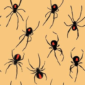 Black Widow Spiders on the Wall