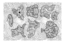 illustrated fabric by kenza_shuja on Spoonflower - custom fabric