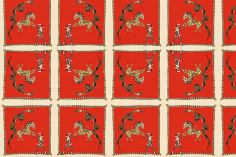 The Red Scarf fabric by marie-clare on Spoonflower - custom fabric