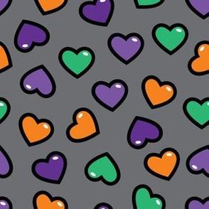 aloha halloween hearts on gray