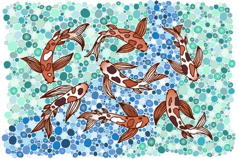 koi pond  fabric by diseminger on Spoonflower - custom fabric