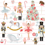 "8"" Nutcracker Dream // Blush Stripes"