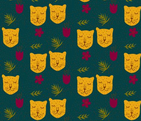 Spotty jungle leopards evergreen-ch fabric by silksieve on Spoonflower - custom fabric