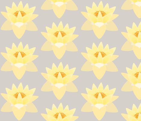 lotus warm grey pale fabric by kae50 on Spoonflower - custom fabric