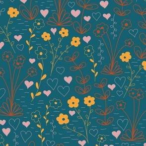 Cutsie Floral for the Limited Color Palette Challenge