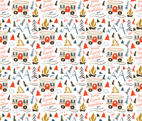 Small Scale - Sweet Home Montana fabric by sweetgrasspaperco on Spoonflower - custom fabric