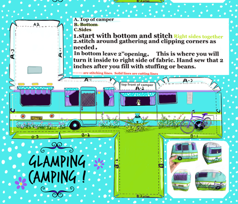 Cut and Sew Glamping Camper fabric by salzanos on Spoonflower - custom fabric