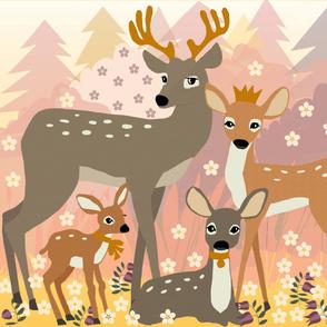 Deer family Panel