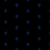 Blue skulkadot