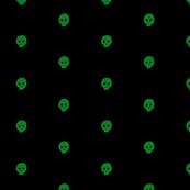 Green Skulkadot