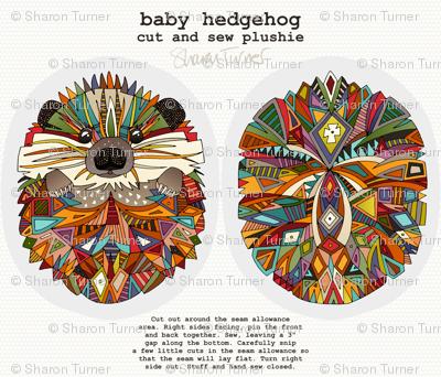 baby hedgehog plushie