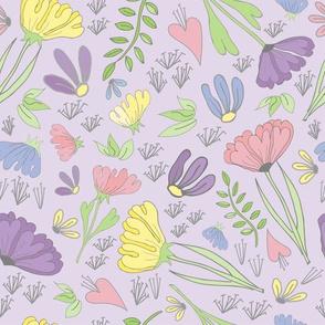 Pastel Floral Hero Lavender