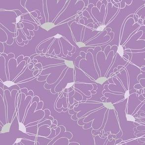 Lavendar Floral Line