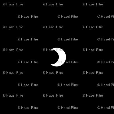 Crescent moon polkadot