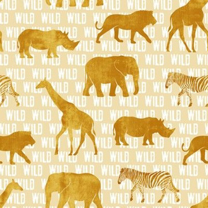 wild safari - gold - animals