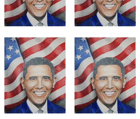 obama fabric by angelheartdesigns on Spoonflower - custom fabric