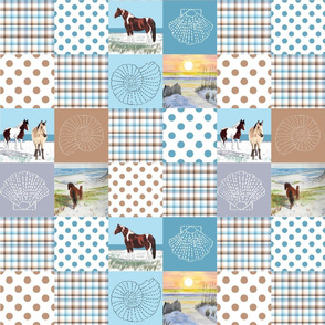 sand ponies quilt 12x12 inches