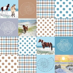 sand ponies quilt 18x18 inches