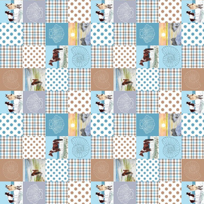 sand ponies quilt 8x8 sideways