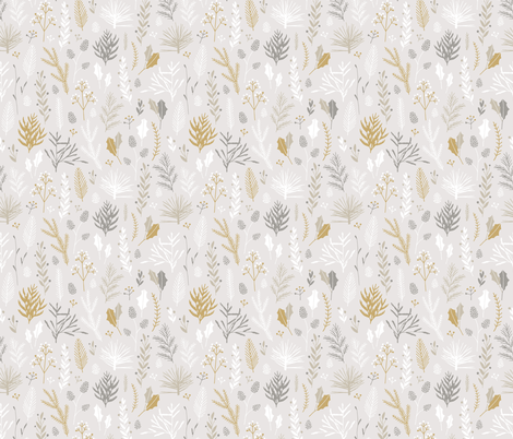 Elegant Christmas Florals 1 fabric by eclosque on Spoonflower - custom fabric