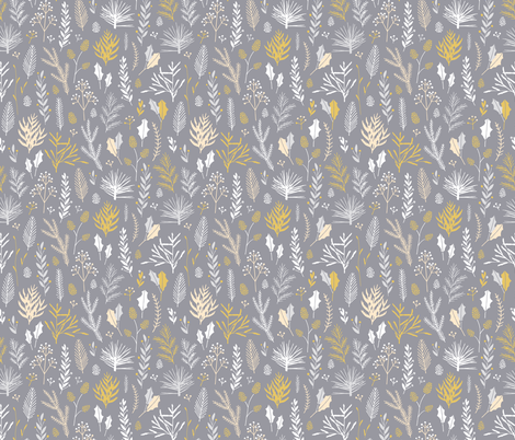Elegant Christmas Florals 7 fabric by eclosque on Spoonflower - custom fabric