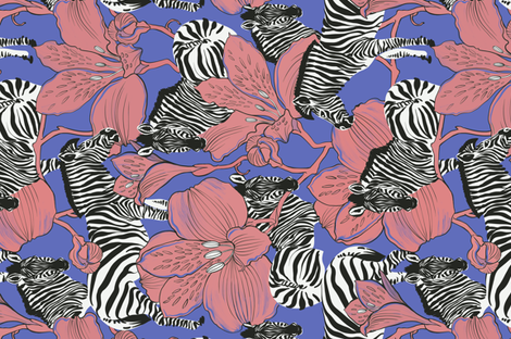 zebras  fabric by torysevas on Spoonflower - custom fabric