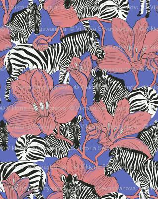zebras violet