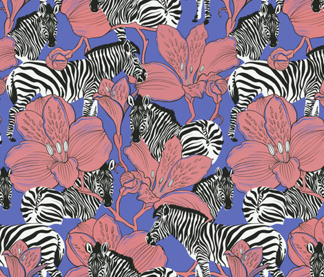 zebra violet fabric by torysevas on Spoonflower - custom fabric