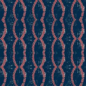 navy blue worn vintage baseball stitched- SMALL 180