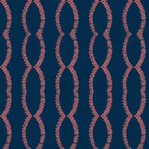 navy blue  vintage baseball stitched- SMALL 180