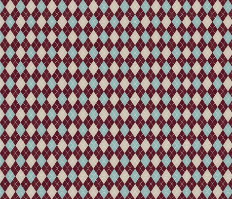 Christmas Argyle fabric by floramoon on Spoonflower - custom fabric