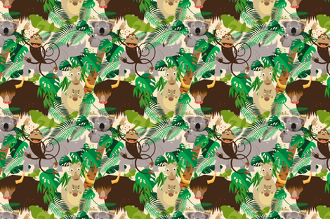 Jungle Animals fabric by lucy_&_me on Spoonflower - custom fabric