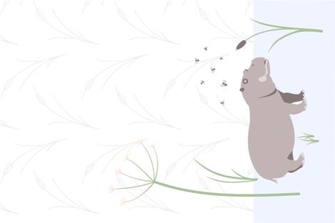 hippo tea towel fabric by dafnag on Spoonflower - custom fabric