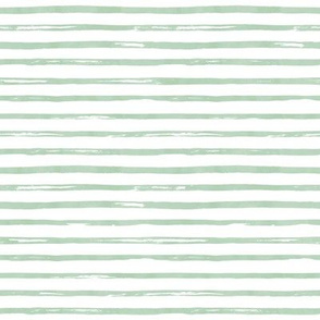"8"" Green Watercolor Stripes"