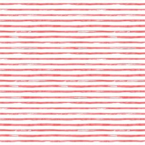 "4"" Red Watercolor Stripes"