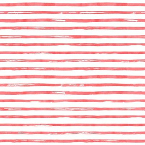 "8"" Red Watercolor Stripes"