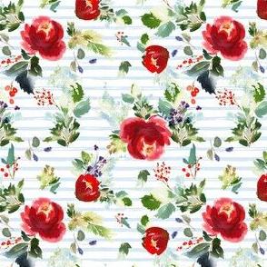 "4"" Boho Winter Garden - Blue Stripes"