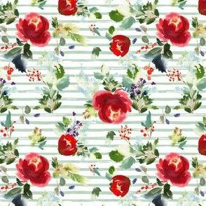 """4"""" Boho Winter Garden - Green Stripes"""