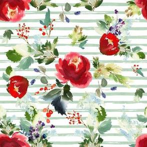 """8"""" Boho Winter Garden - Green Stripes"""