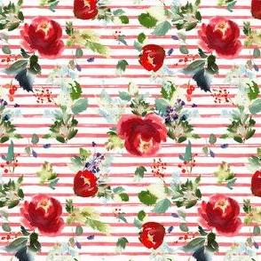 "4"" Boho Winter Garden - Red Stripes"