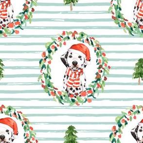 "8"" Best Friend Holiday Wreath - Light Green Stripes"