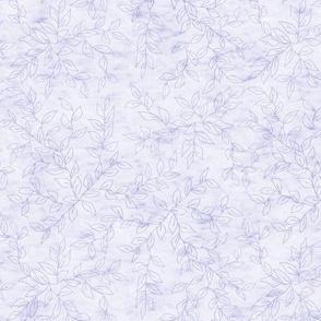 Soft Lavender Blue Vines Texture