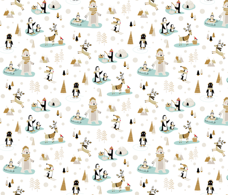 Snow Day fabric by martamunte on Spoonflower - custom fabric