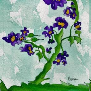 Purple Flowering Plant crop 01