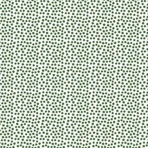 "4"" Apple Green Dots"