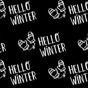 """4"""" Hello Winter - Black"""