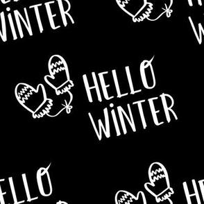 """8"""" Hello Winter - Black"""