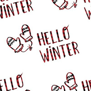 "8"" Hello Winter - Plaid"