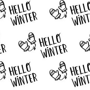 "4"" Hello Winter - White"