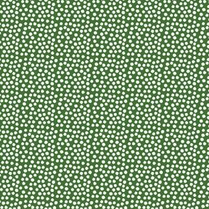 "4"" White Polka Dots - Apple Green Background"